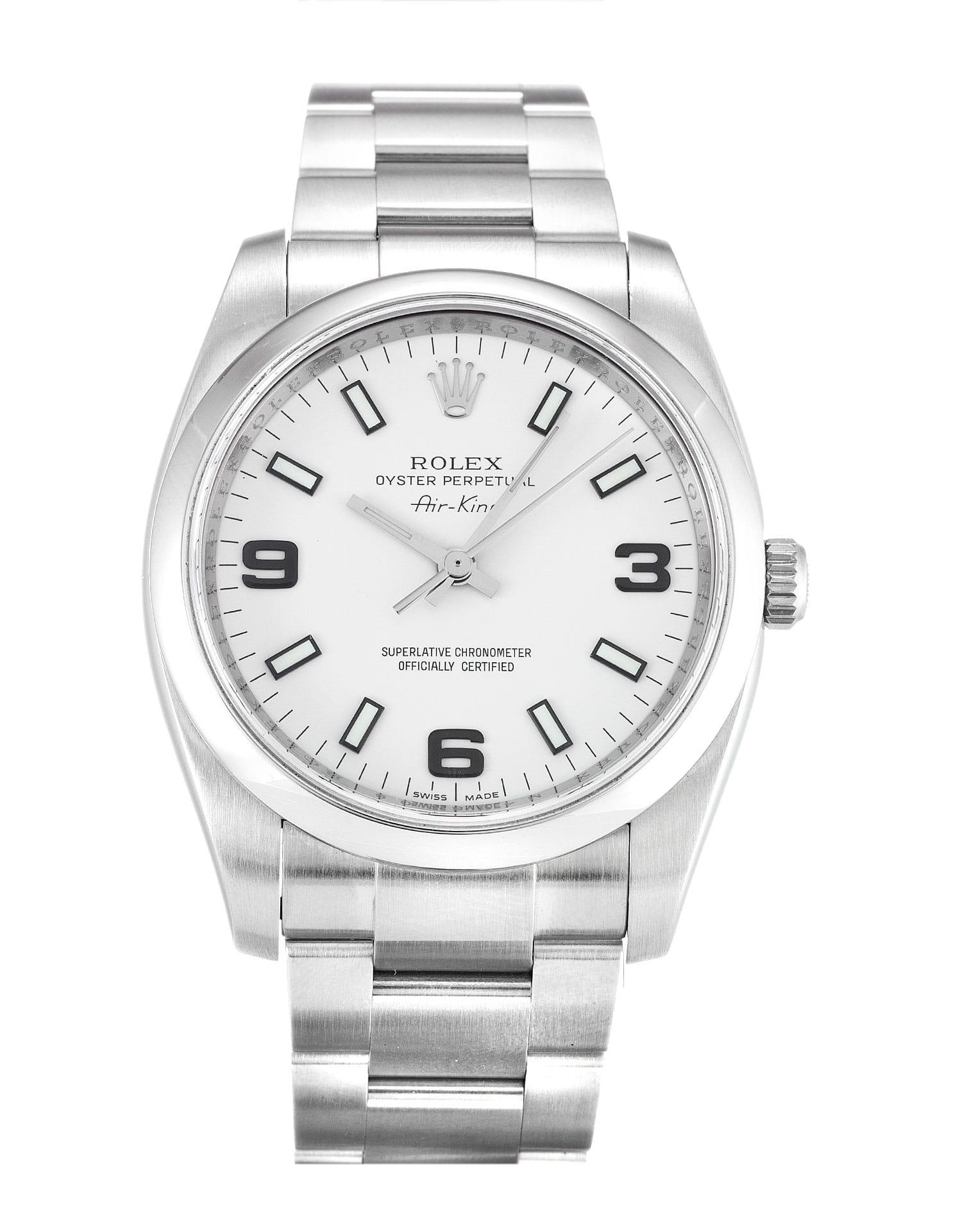 Rolex Air-King 114200 34MM White Dial width=500