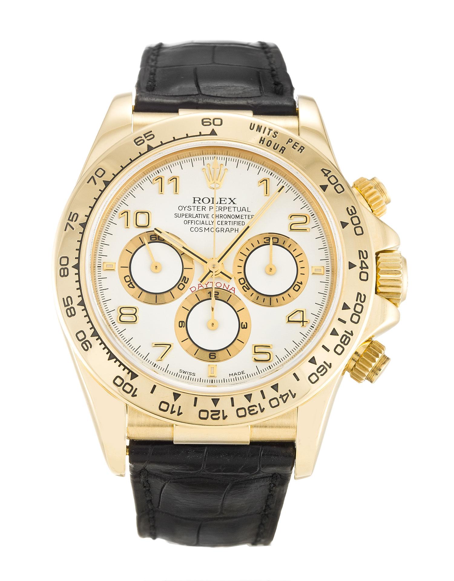Rolex Cosmograph Daytona 16518 Yellow Gold White Dial width=500