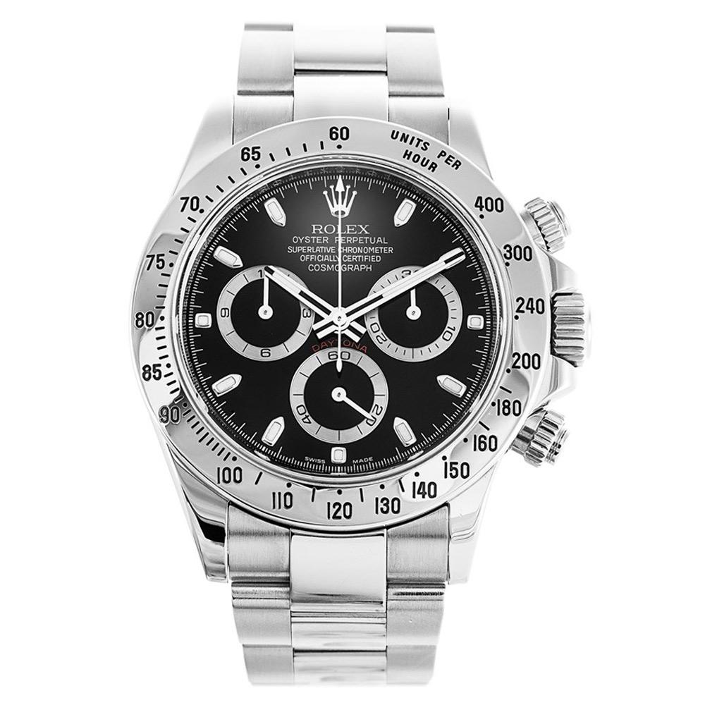 Rolex Cosmograph Daytona 116520 40MM Black Dial In Steel width=500