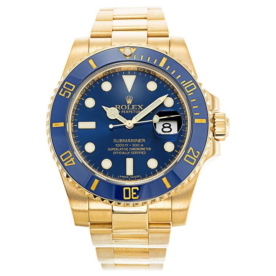 Rolex Submariner Gold 116618LB 40MM Blue Dial width=500