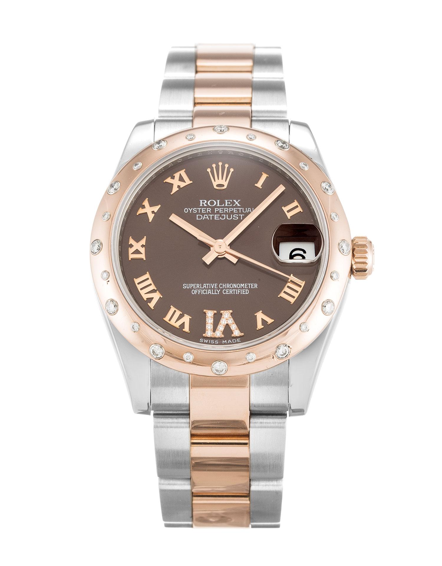 replica Rolex Ladies-Datejust 178341 31MM Chocolate Dial