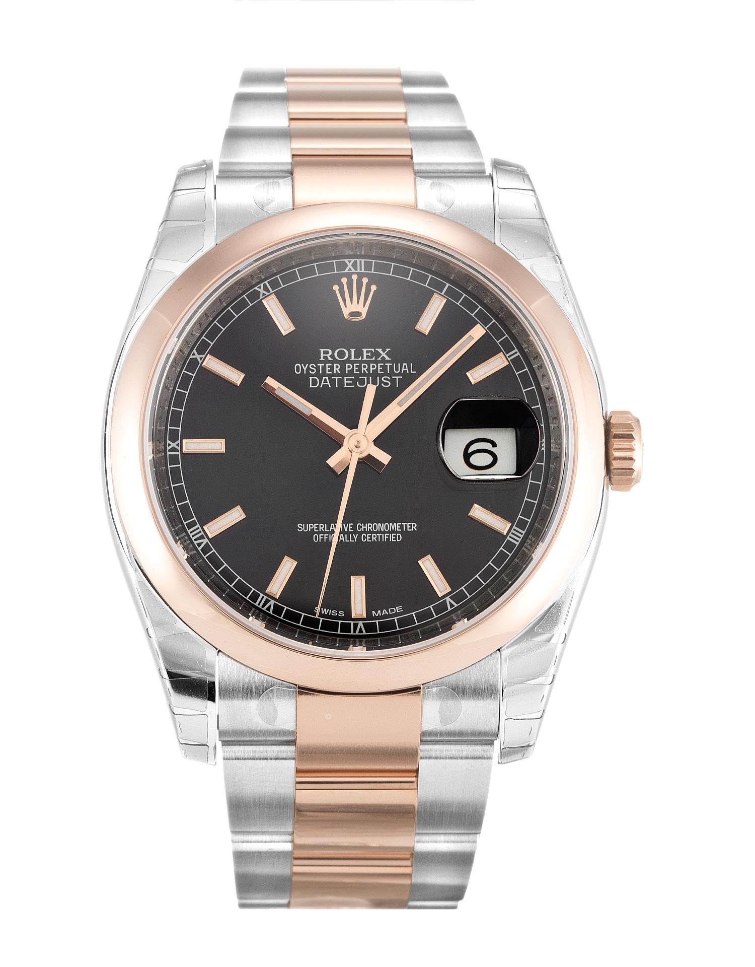 replica Rolex Datejust 116201 36MM Black Dial