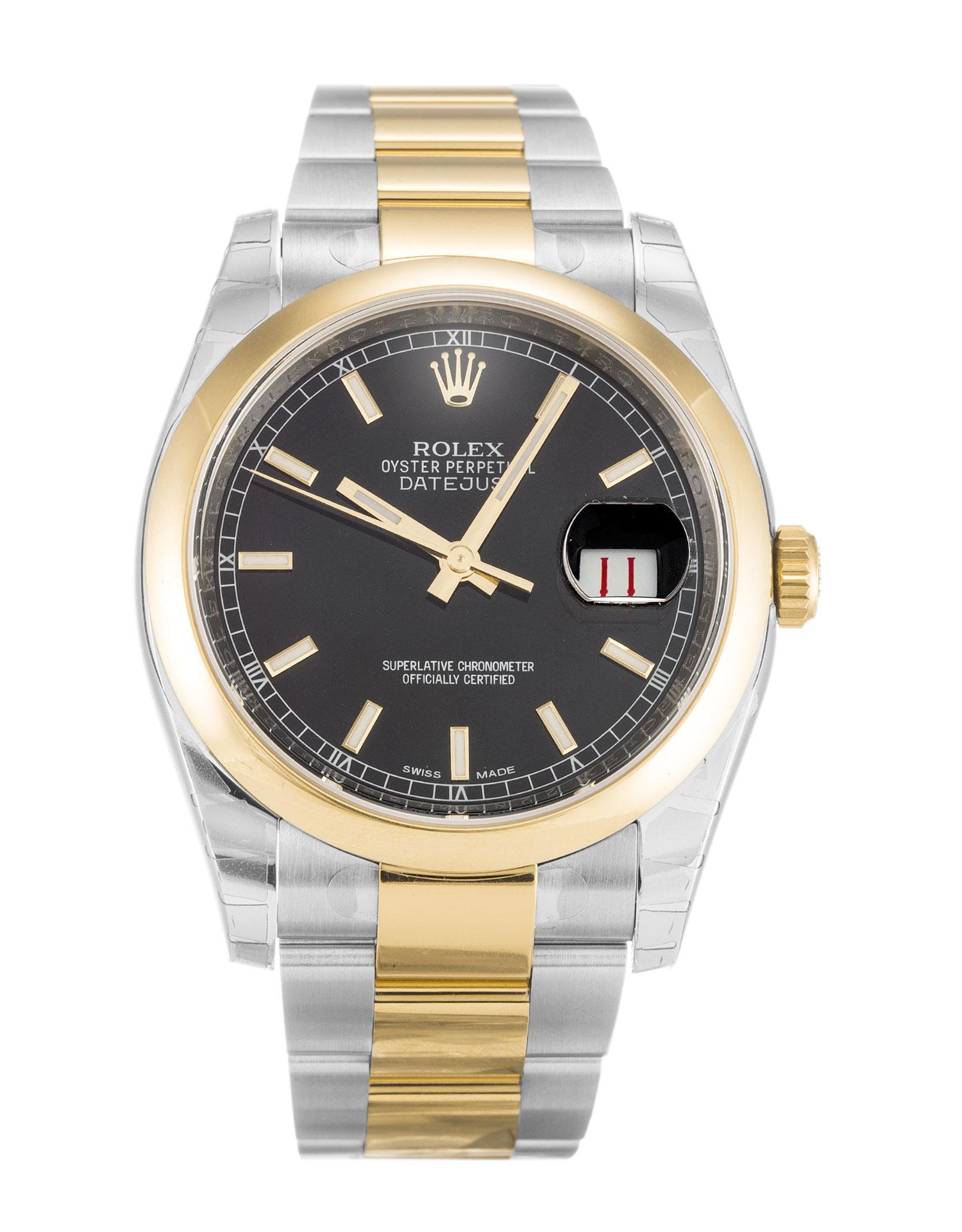 replica Rolex Datejust 116203 36MM Black Dial