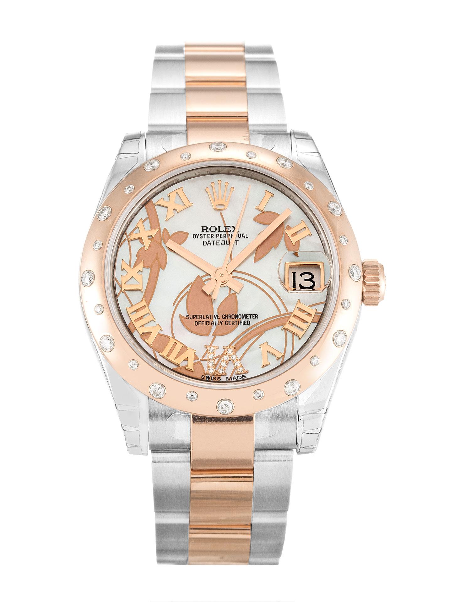 replica Rolex Ladies-Datejust 178341 31MM White Dial