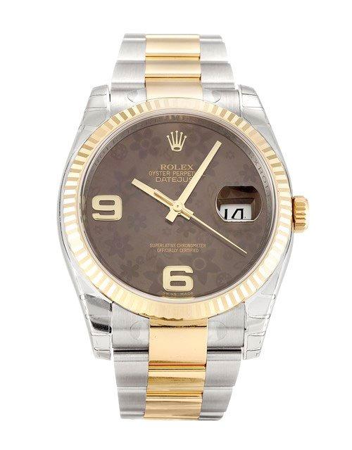 replica Rolex Datejust 116233 36MM Floral Dial