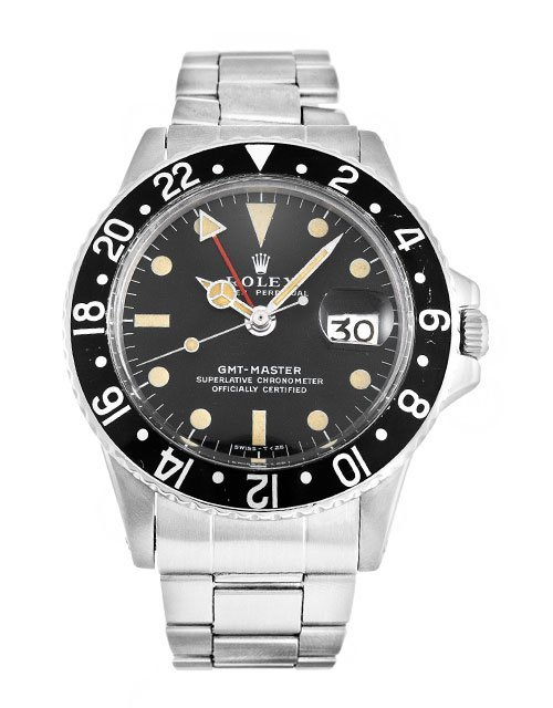 replica Rolex GMT Master 1675 40MM Black Dial