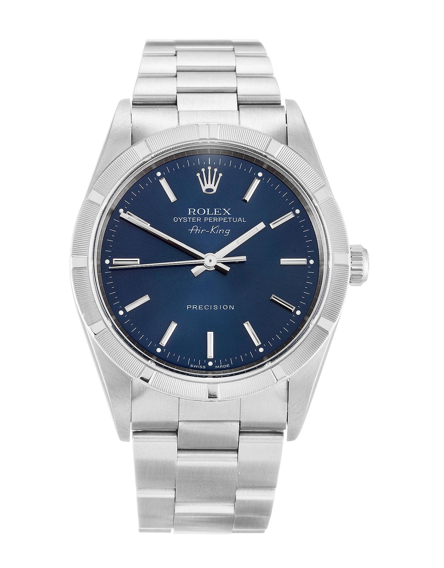 replica Rolex Air-King 14010M 34MM Blue Dial
