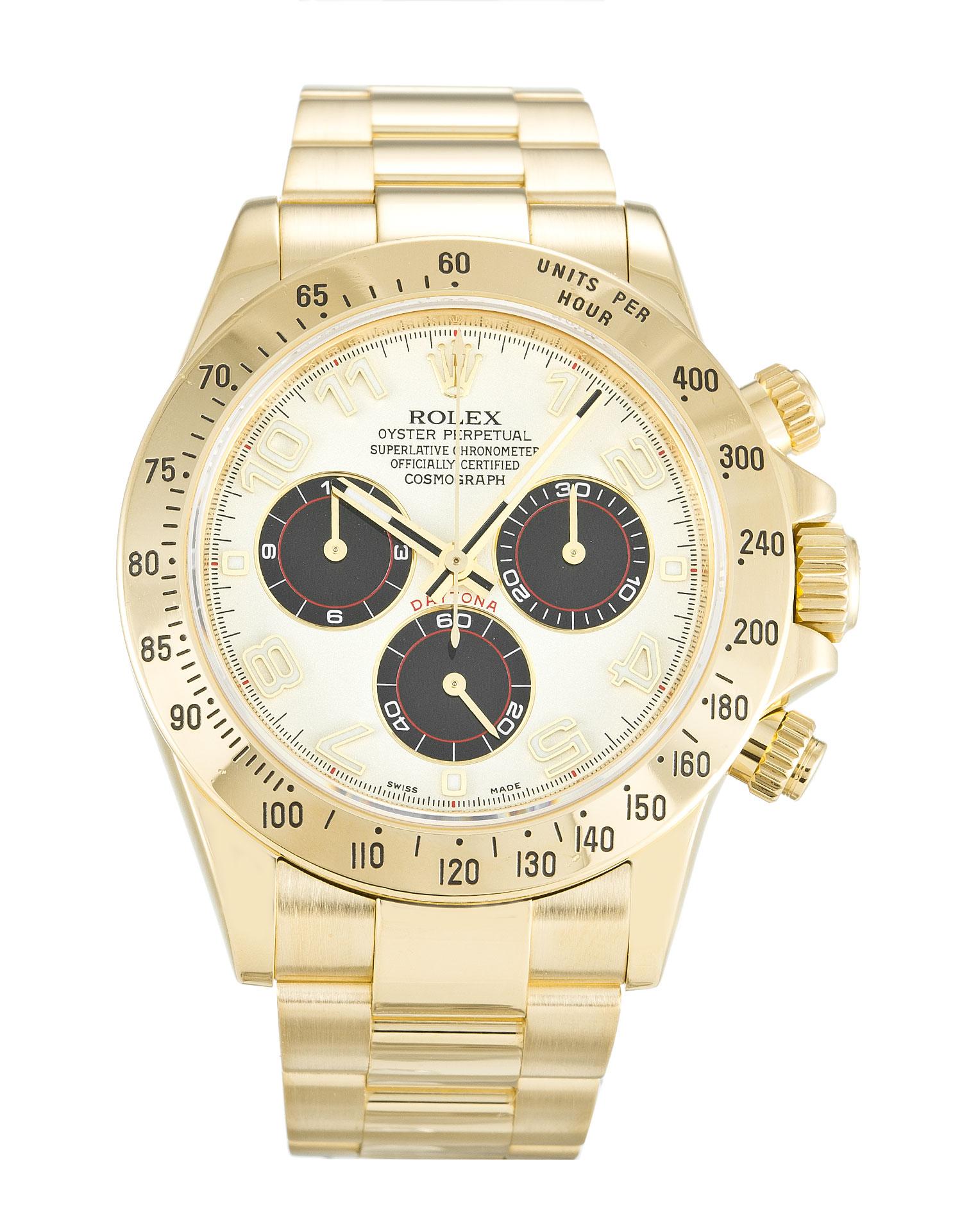 replica Rolex Cosmograph Daytona 116528 40MM White Dial
