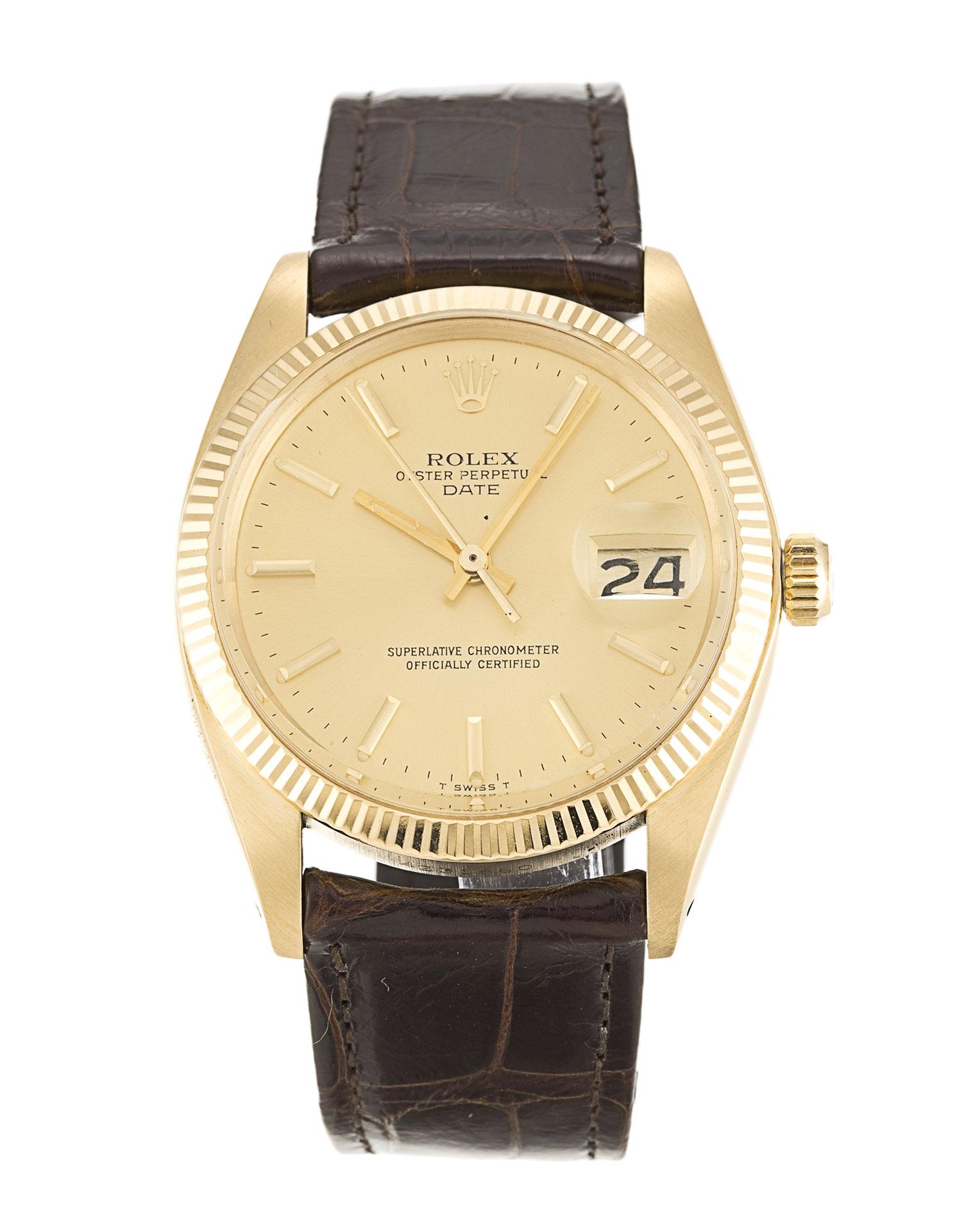 replica Rolex Oyster Perpetual Date 1503 33MM Champagne Dial