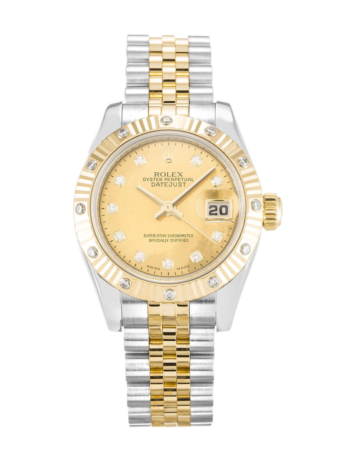 replica Rolex Ladies-Datejust 17931 26MM Champagne Dial