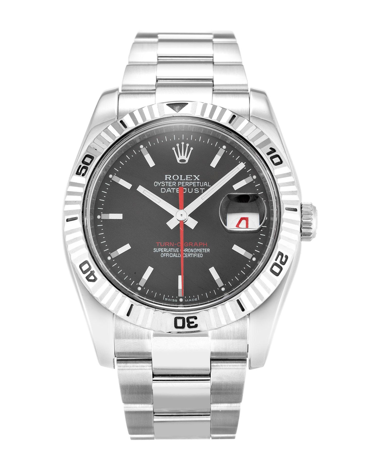replica Rolex Datejust Turn-O-Graph 116264 36MM Grey Dial