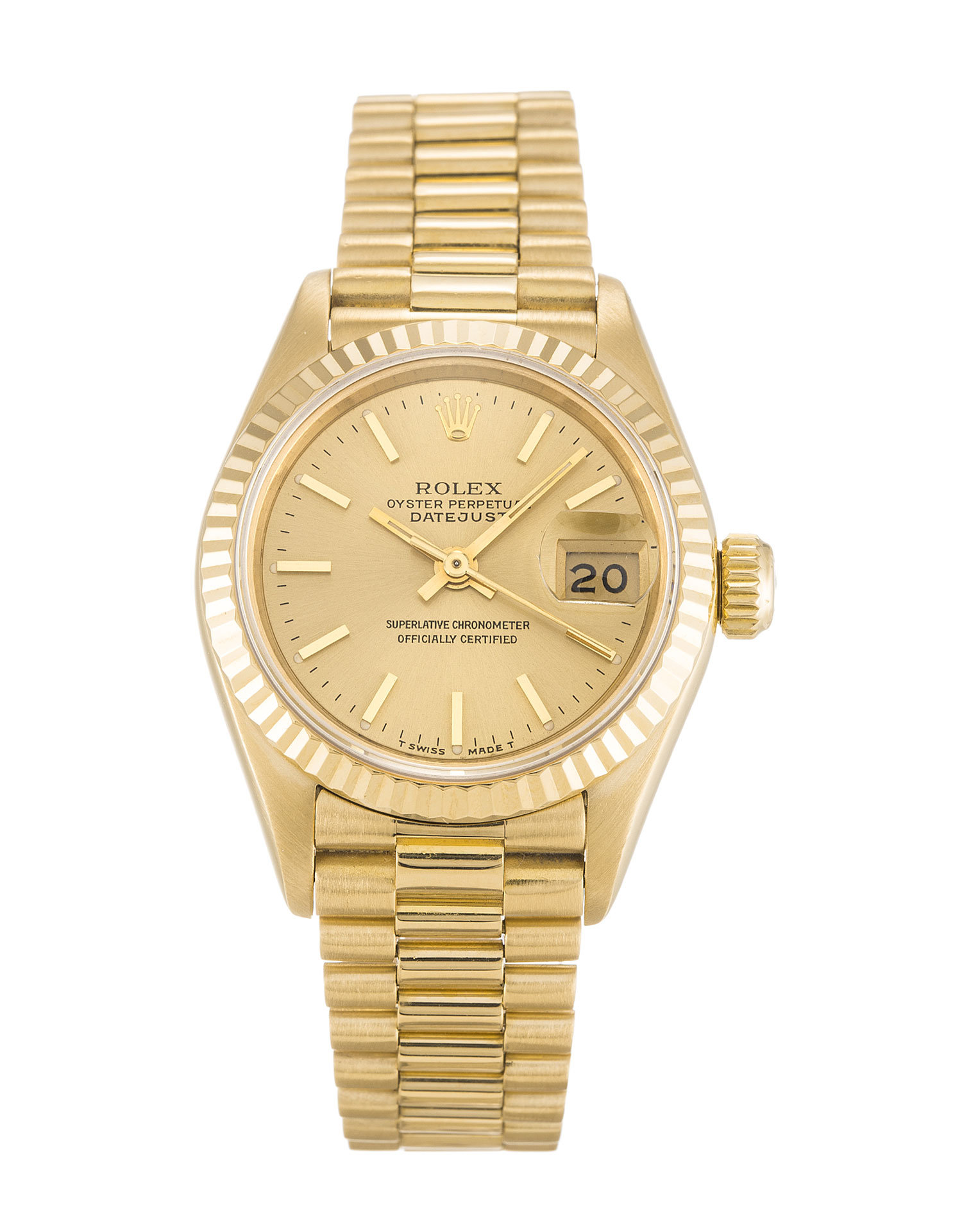 replica Rolex Ladies-Datejust 69178 26MM Champagne Dial
