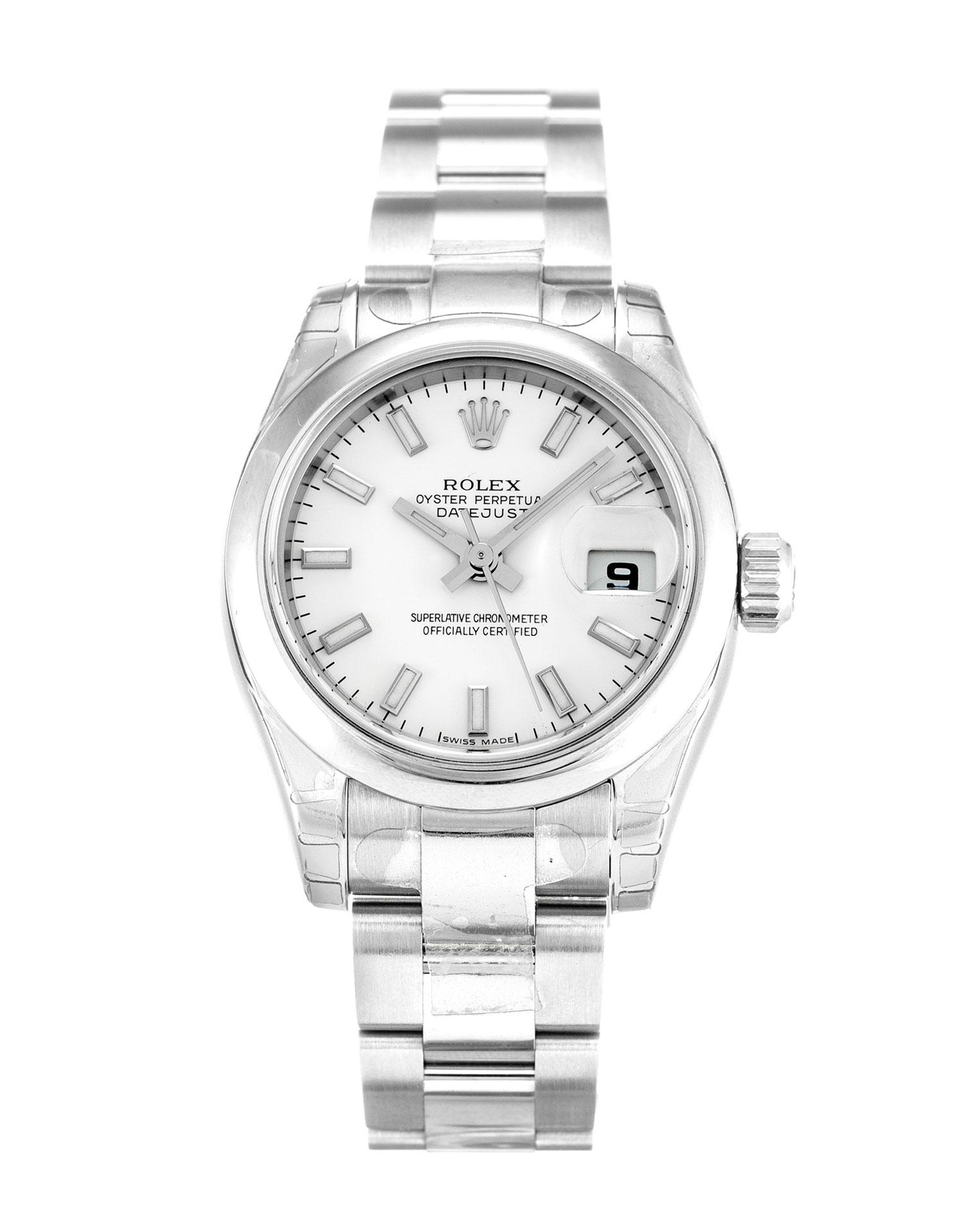 replica Rolex Ladies-Datejust 179160 26MM White Dial