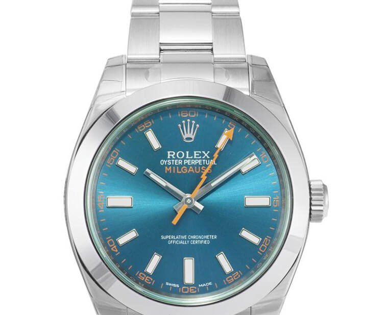 Blue Rolex Replica Milgauss 116400GV Z-Blue Dial In Oystersteel Dial