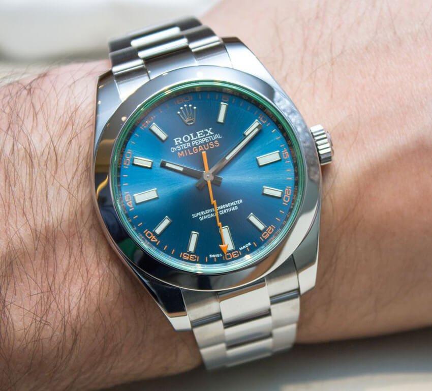 Blue Rolex Replica Milgauss 116400GV Z-Blue Dial in Oystersteel
