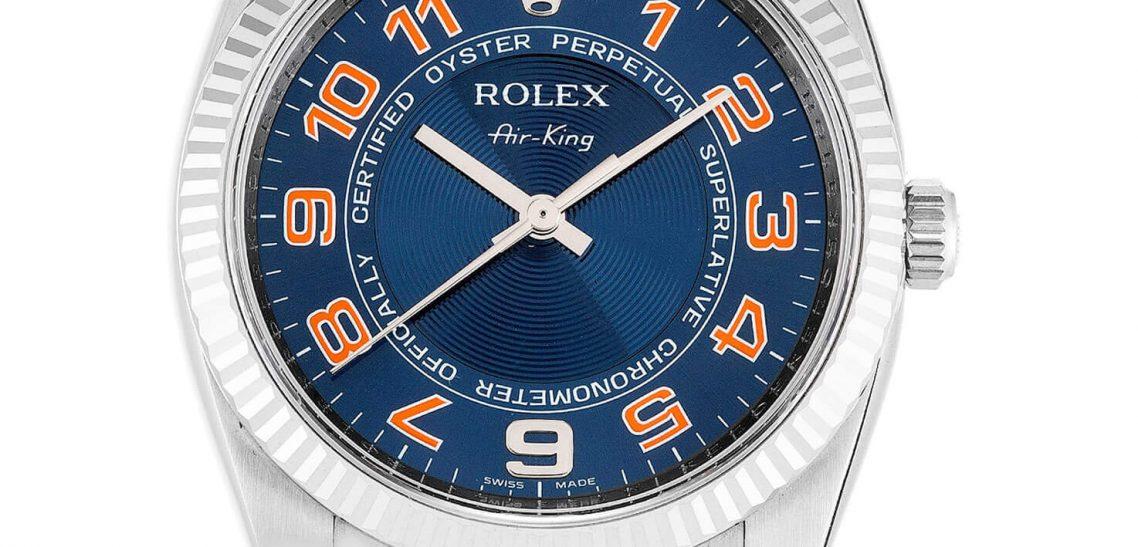 Replica Air-King Cheap Blue Arabic Rolex 114234