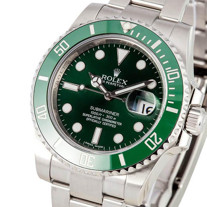 Green Rolex Submariner Replica 116610LV Mens dial