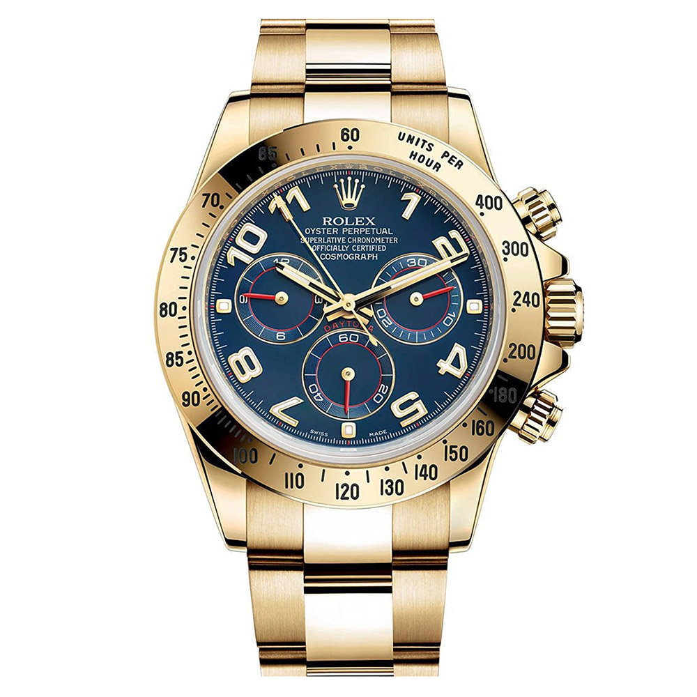 replica Rolex Cosmograph Daytona 116528 40MM Blue Dial