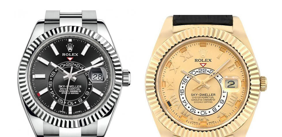 Two of the Best Replica Rolex Sky-Dweller Watches