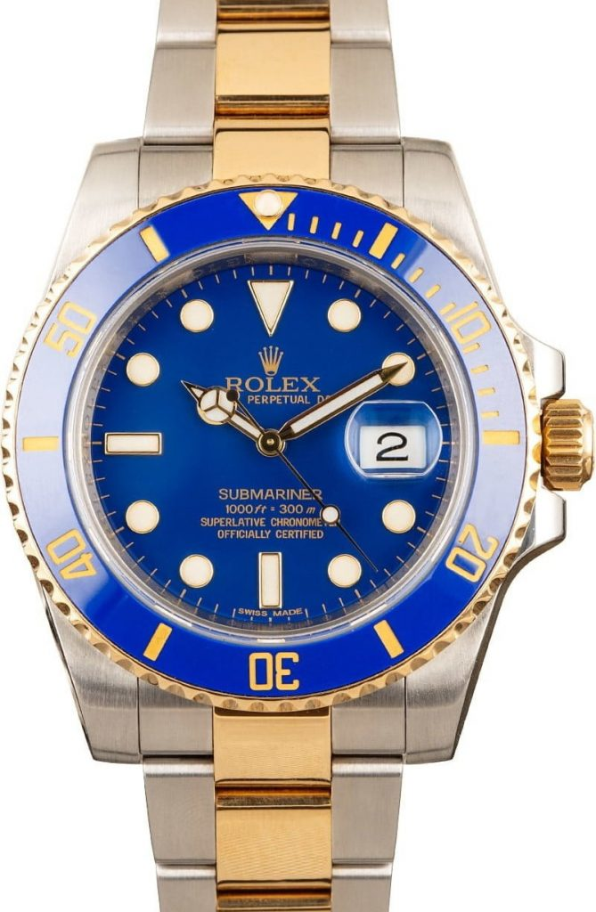 replica Submariner Swiss Mens Rolex 116613 Blue Dial appearance