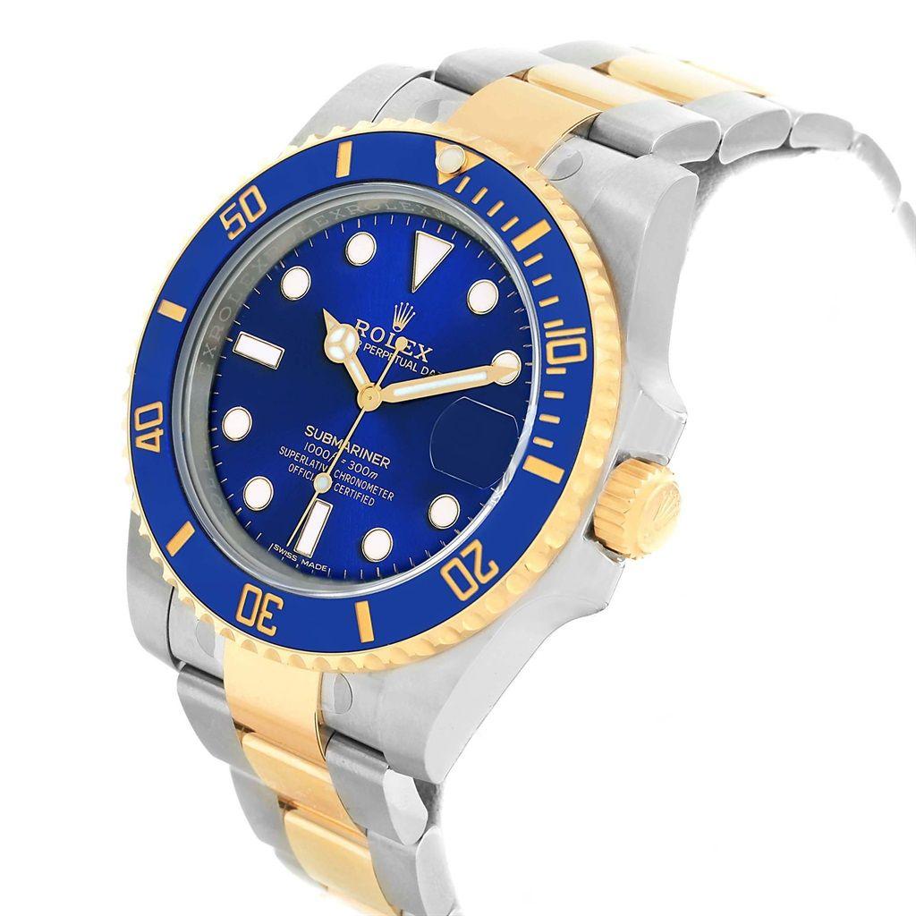 Replica Submariner Swiss Mens Rolex 116613 Blue Dial design