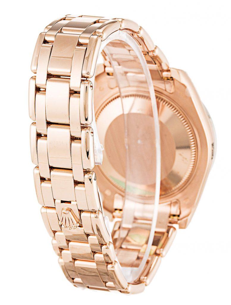 Beautiful replica Rolex Pearlmaster Diamond 81285 34mm White Dial-bracelet
