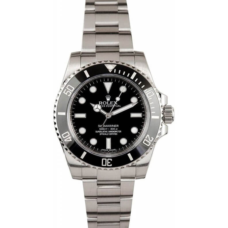 Best Replica Rolex Submariner No Date 114060 Black Dial Case