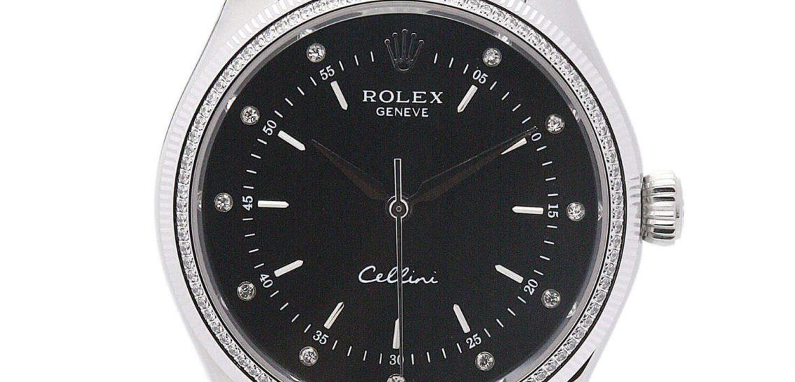 Black Rolex Replica Cellini 4233/8 25MM
