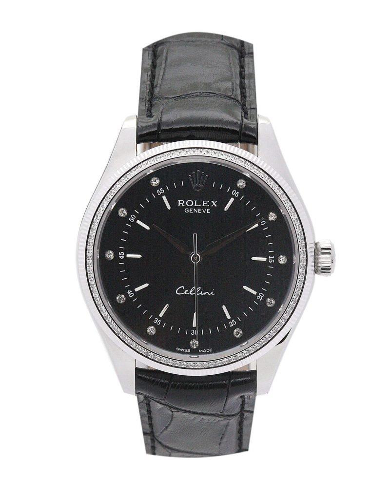 Black Replica Rolex Cellini 4233 25MM case