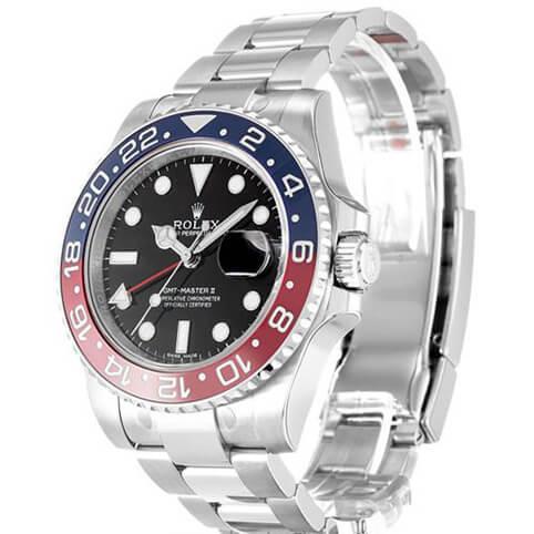 Black Replica Rolex GMT Master II 116719 40MM--