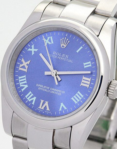Blue Watch Replica Rolex Oyster Perpetual 177200