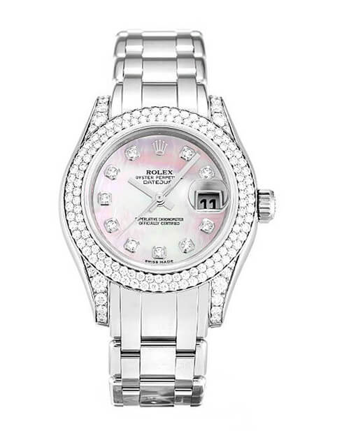 Replica Watch Rolex Bright Diamond  Pearlmaster 80359 29mm Pink Dial