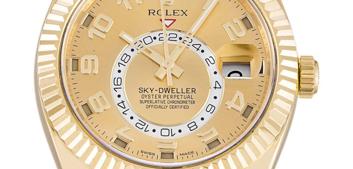 Rolex Replica Champagne Sky-Dweller 326938 42mm