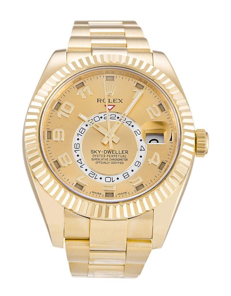 Champagne Rolex Replica Sky-Dweller 326938 42mm-1