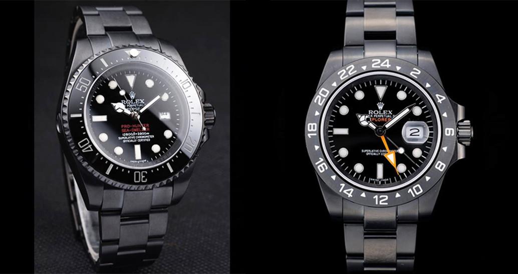 Dark Black Replica Perfect Rolex Watches(Part Two)