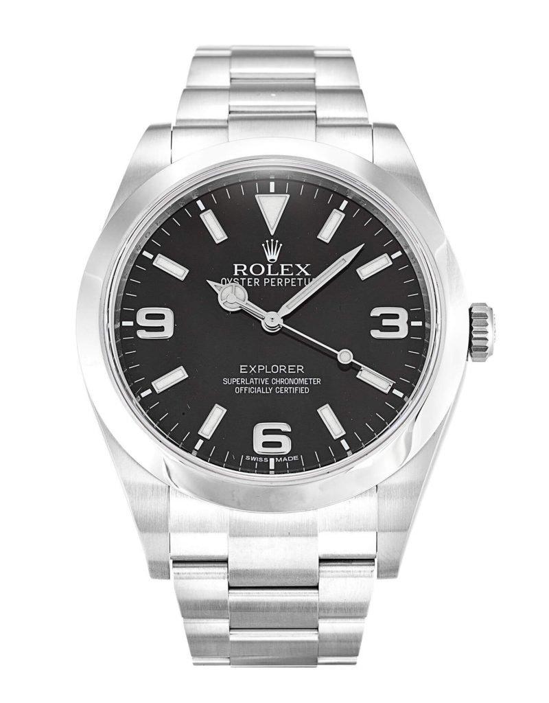 Fake Rolex Explorer 214270 39mm Black Dial