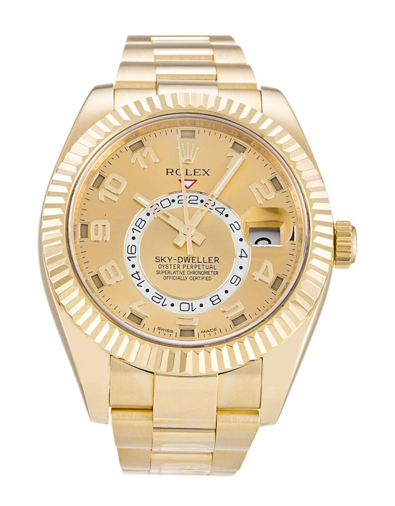 Fake Rolex Sky-Dweller 326938 42mm Champagne Dial