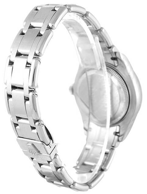 Ladies Rolex Replica Pearlmaster 80299 29mm White Dial-3