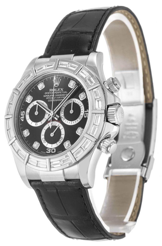 Perfect Rolex Replica Cosmograph Daytona 116589BR 40mm Black Dial bracelet