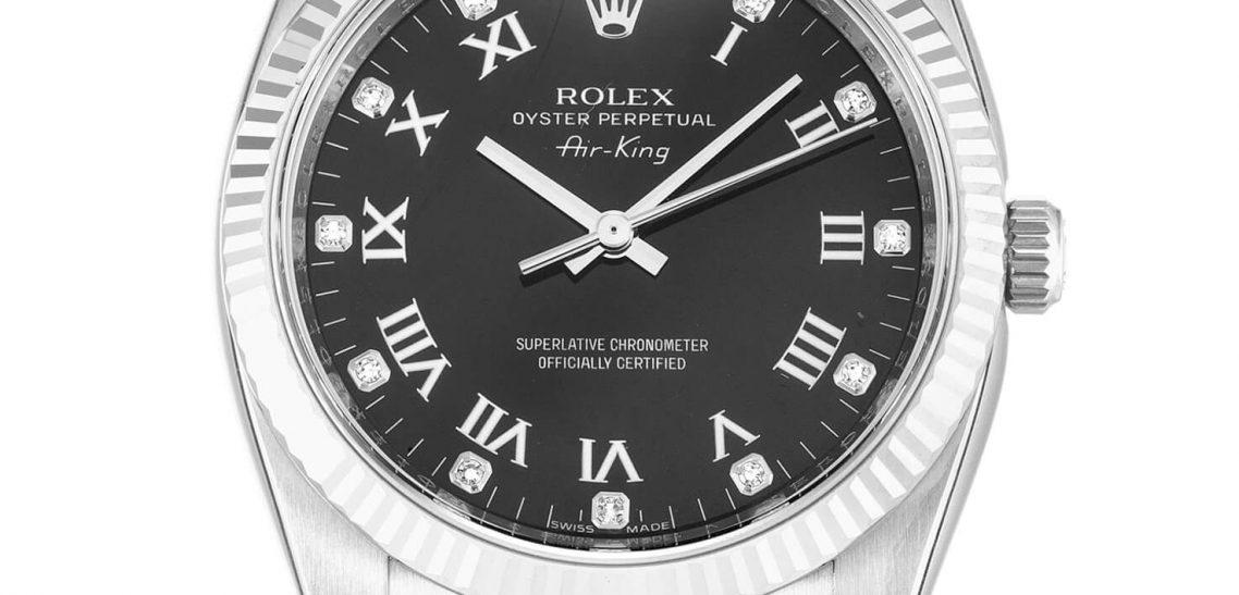 Replica Rolex Air-King 114234 34mm Black Dial