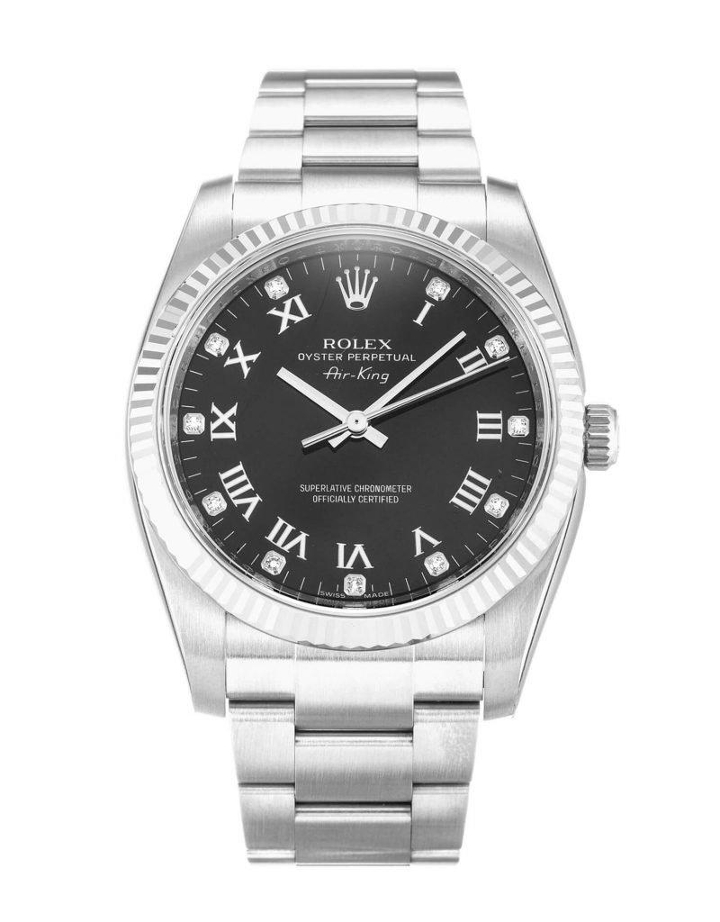 Replica Rolex Air-King 114234 34mm Black Dial-