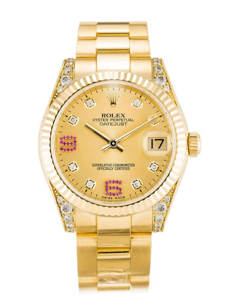 Replica Rolex Datejust 178238 31mm Champagne Dial