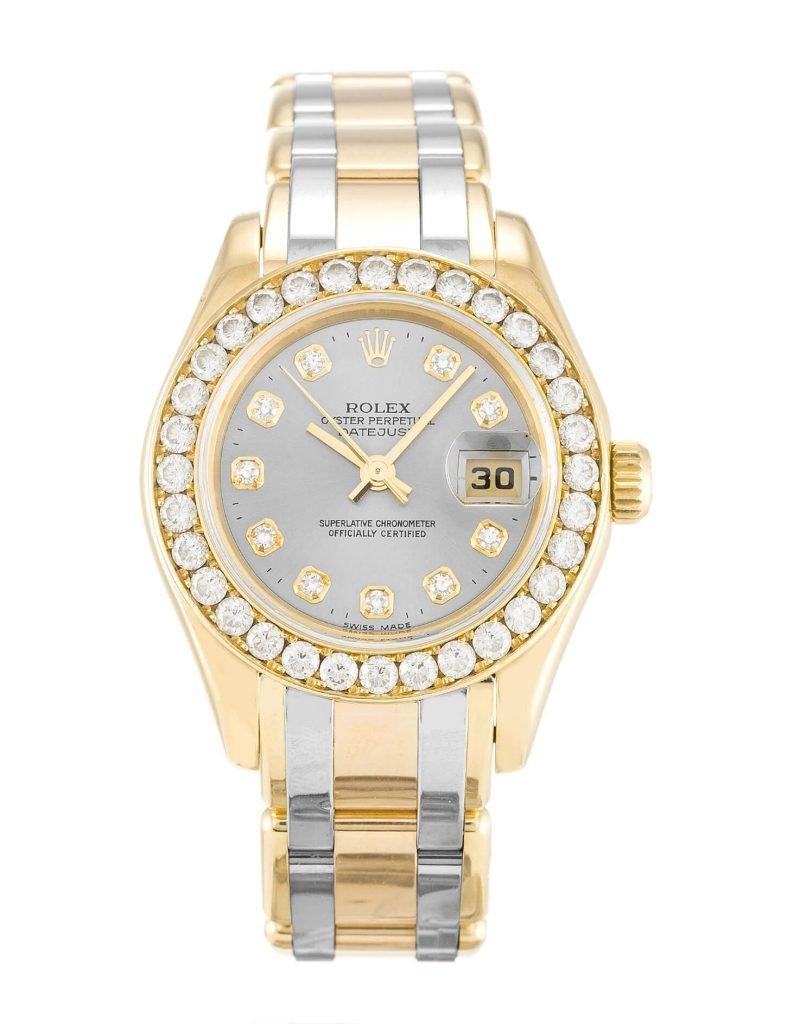 Replica Rolex Pearlmaster 80298 29mm Champagne Dial
