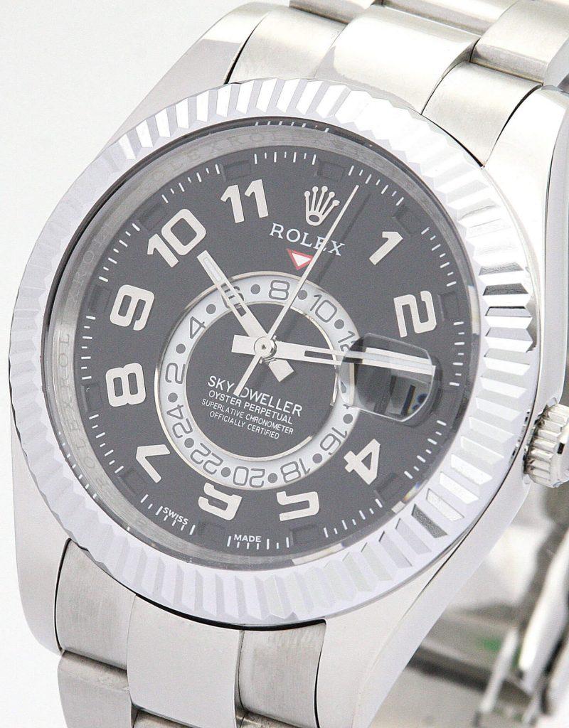 Replica Rolex Sky-Dweller 326938 42mm Black Dial