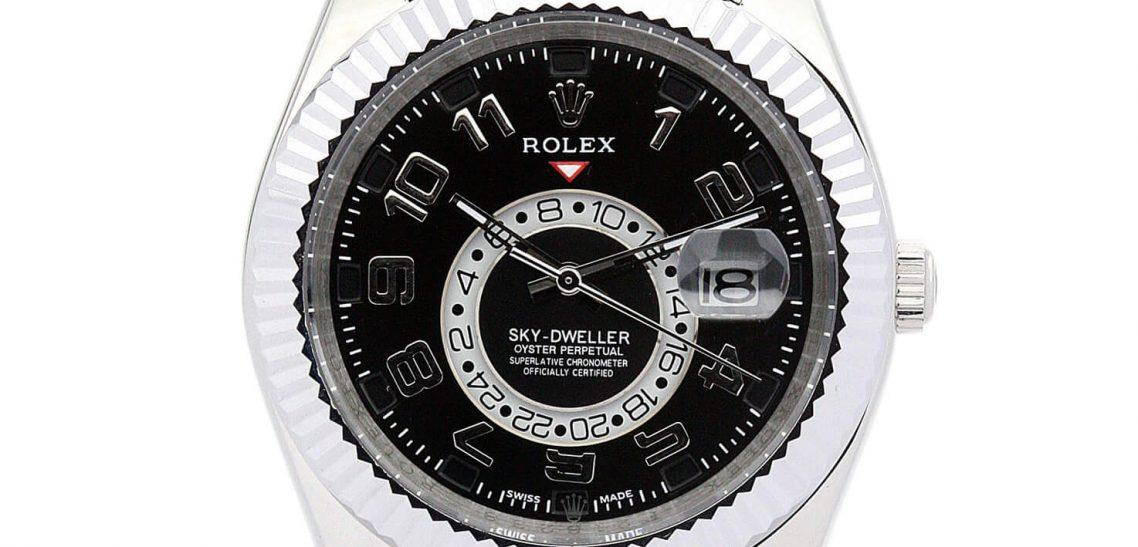 Replica Rolex Watch Sky-Dweller 326938 42mm Black Dial