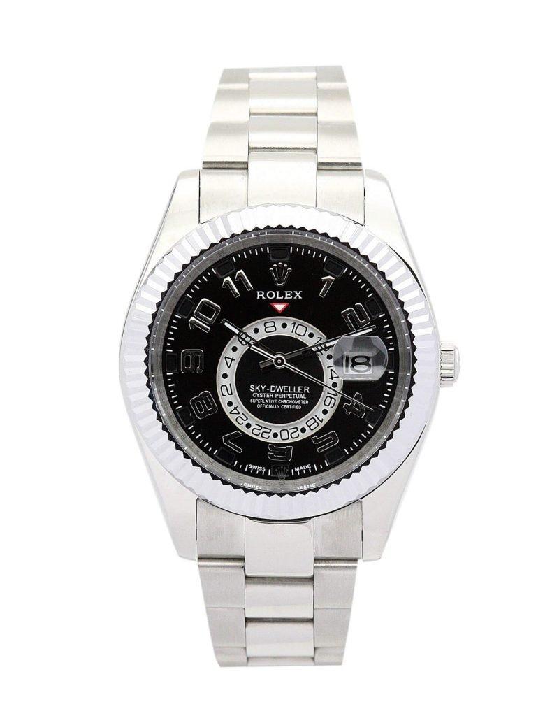 Replica Rolex Sky-Dweller 326938 42mm Black Dial-case
