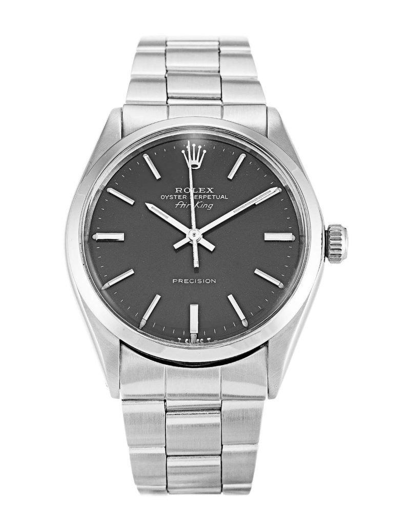 Rolex Air-King 5500 Watch 34MM Grey Dial