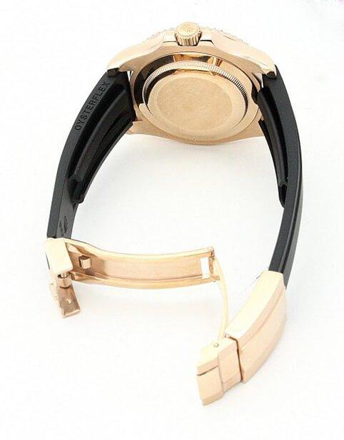 Replica Rolex Perfect Yacht-Master 169622 35mm Black Dial-bracelet