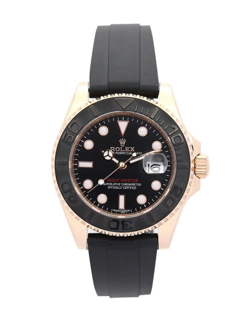 Replica Rolex Perfect Yacht-Master 169622 35mm Black Dial-case