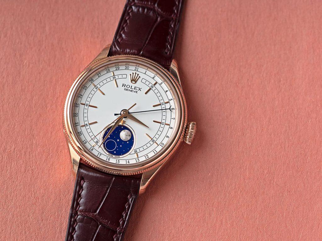 Rolex Replica Cellini Moonphase 50535 White Dial